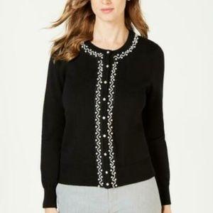 Charter Club Dressy Peal Button Cardigan Sz XL NWT